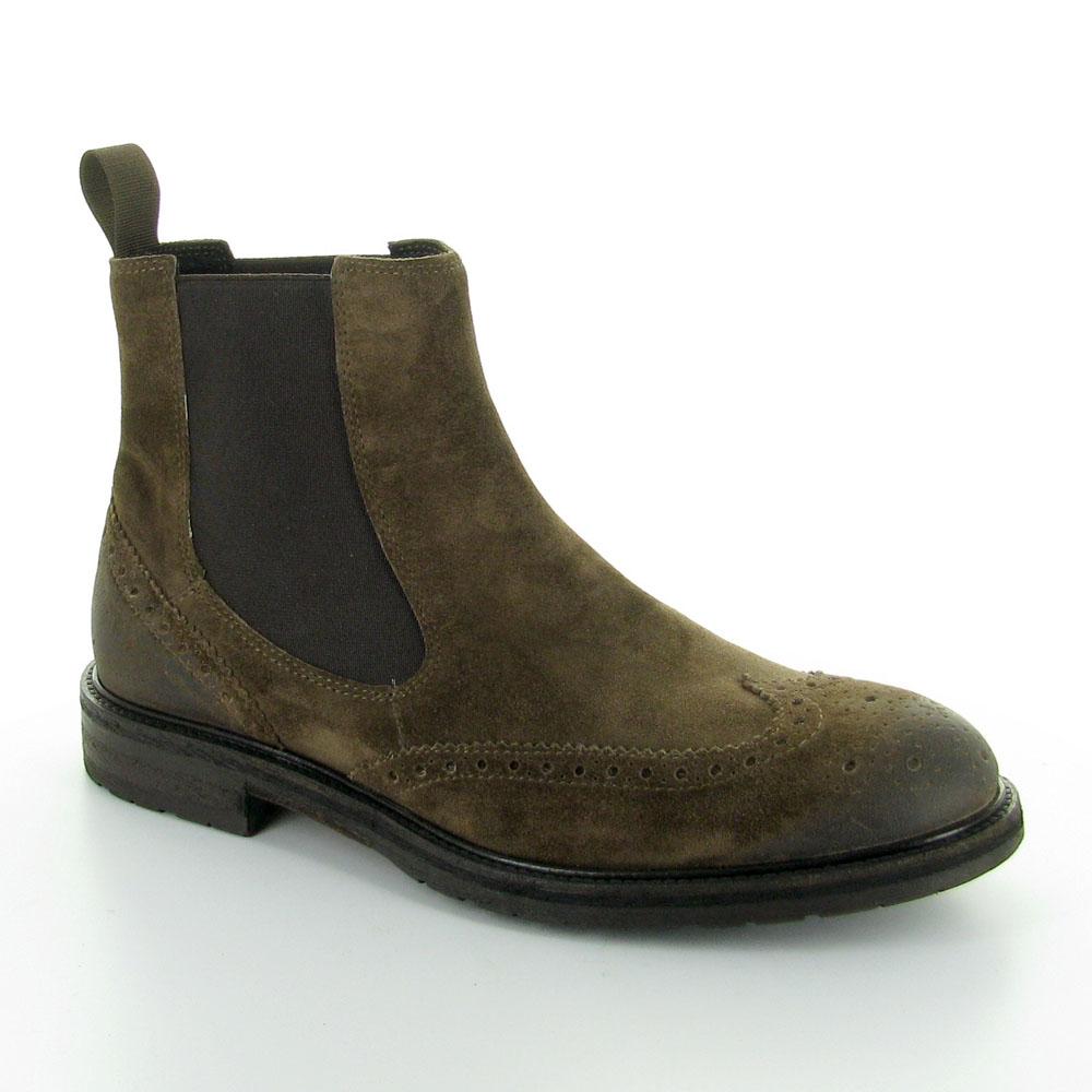 3d8b648d91 STIVALETTO UOMO IN CAMOSCIO MARRONE FRAU   Arduino Shoes   Scarpe e ...
